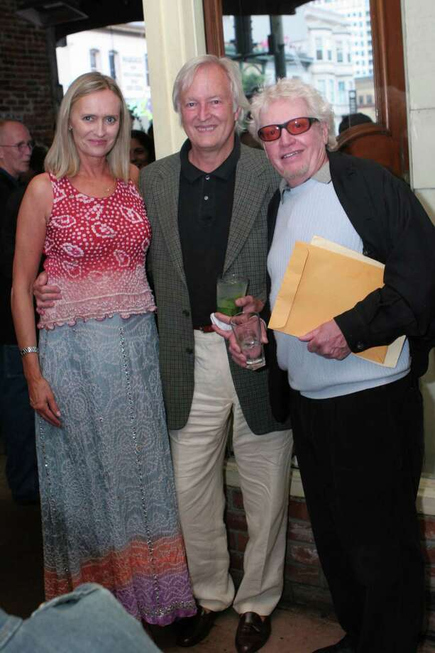 PR woman Cynthia Bowman hosted her own retirement party at Enricos. From left: 7Bowman with (from left) music lawyer Al Staehely and Jefferson Airplane manager Bill Thompson.. Ran on: 08-06-2006 Photo: Jamie Grenough/Orange Etc. / SFC / handout