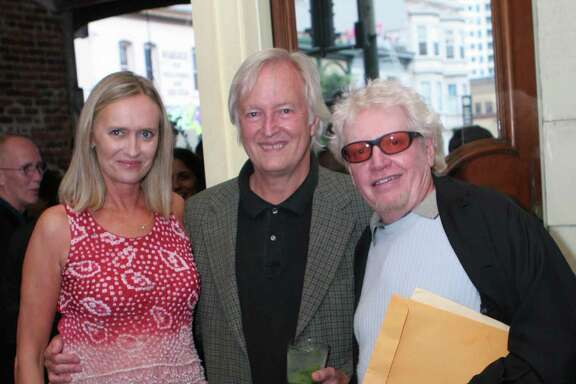 PR woman Cynthia Bowman hosted her own retirement party at Enricos. From left: 7Bowman with (from left) music lawyer Al Staehely and Jefferson Airplane manager Bill Thompson.. Ran on: 08-06-2006