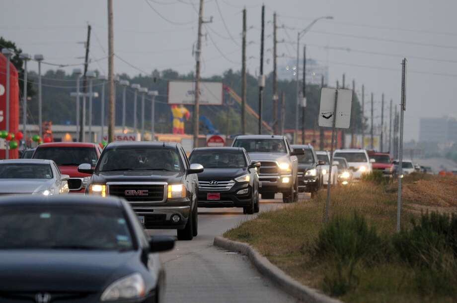 SH 249 north bound traffic inches along during evening rush hour near the NorthPointe and Boudreaux exit. Photo: Jerry Baker, Freelance