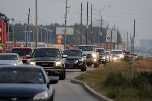 SH 249 north bound traffic inches along during evening rush hour near the NorthPointe and Boudreaux exit.