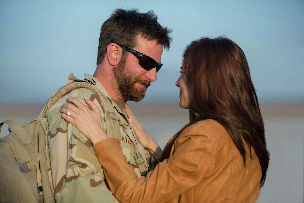 "Bradley Cooper and Sienna Miller star in ""American Sniper."""