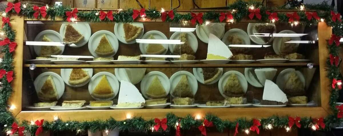 Slices of pies at Tip Top Cafe