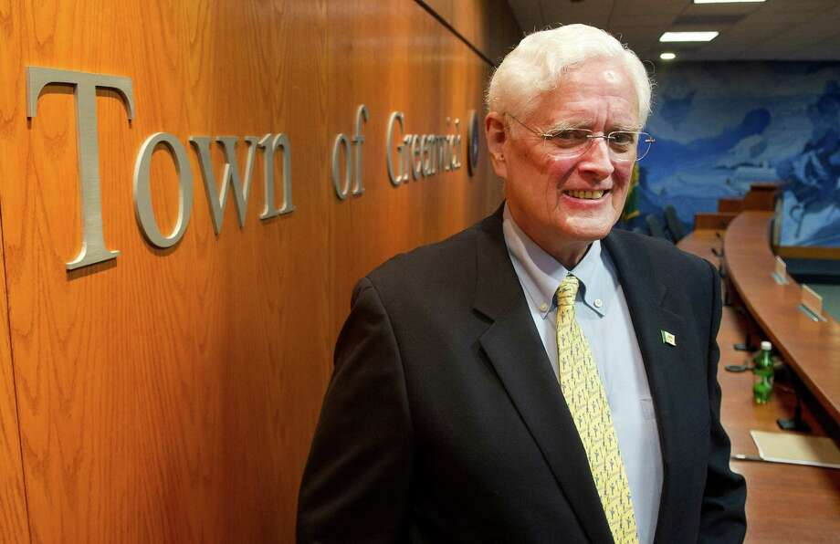 John Toner poses for a photo after he was sworn-in as Selectman during a special meeting at Greenwich Town Hall in Greenwich, Conn., on Wednesday, January 14, 2015, to fill the position left by the death of Dave Theis. Photo: Lindsay Perry / Stamford Advocate