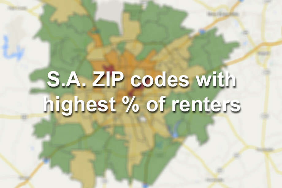 See which San Antonio ZIP codes have the highest percent of renters. Also included in the data is the estimated gross median rent for each ZIP code.Red: 75% or higher Orange: 50% or higher Yellow: 25% or higher Green: under 25% renters Photo: Map Created By Chris Eudaily