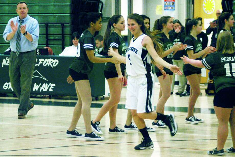 New Milford High School girls' basketball vs. Notre Dame of Fairfield, Saturday, Jan. 10, 2015 at NMHS. Photo: Norm Cummings / The News-Times