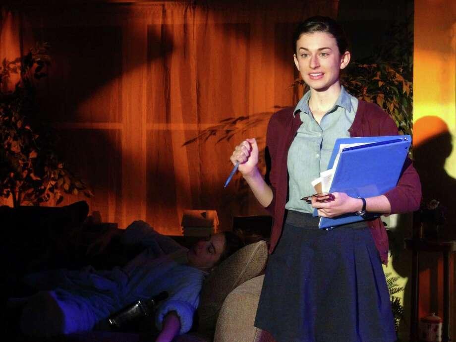 """Rhiannon Antico, Christine Doidge in Curtain Call Theater's """"Tigers Be Still."""""""