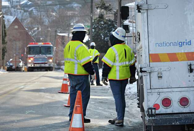 National Grid crews investigate the scene of a gas leak at 41 Brunswick Ave. Wednesday, Jan. 14, 2015, in Troy, NY.  (John Carl D'Annibale / Times Union) Photo: John Carl D'Annibale