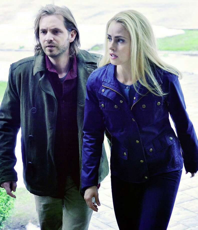 "Aaron Stanford plays Cole, who flits back and forth between decades trying to stop a plague, and Amanda Schull plays a virologist who helps him in the TV remake of ""12 Monkeys"" on SyFy. Photo: SyFy / SyFy / MCT"