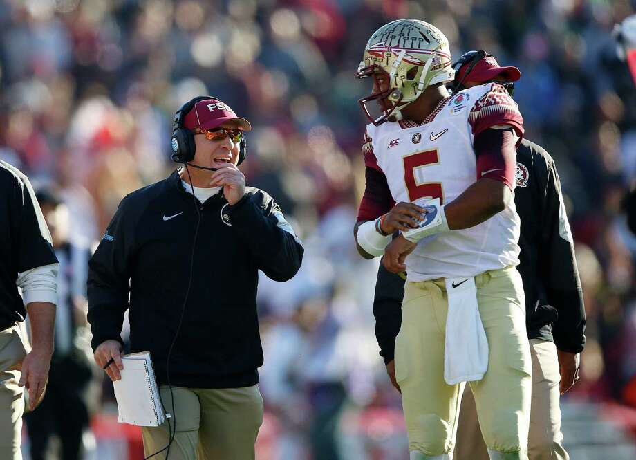 When it comes to trouble, Florida State is the defending national champion. Superstar quarterback Jameis Winston (5) alone caused Coach Jimbo Fisher enough problems for a whole team. Now that Winston is gone to the NFL, it's a tougher call which college football program is causing the most embarrassment. Click through the slideshow to see the Trouble 20.  Photo: Doug Benc /Associated Press / AP