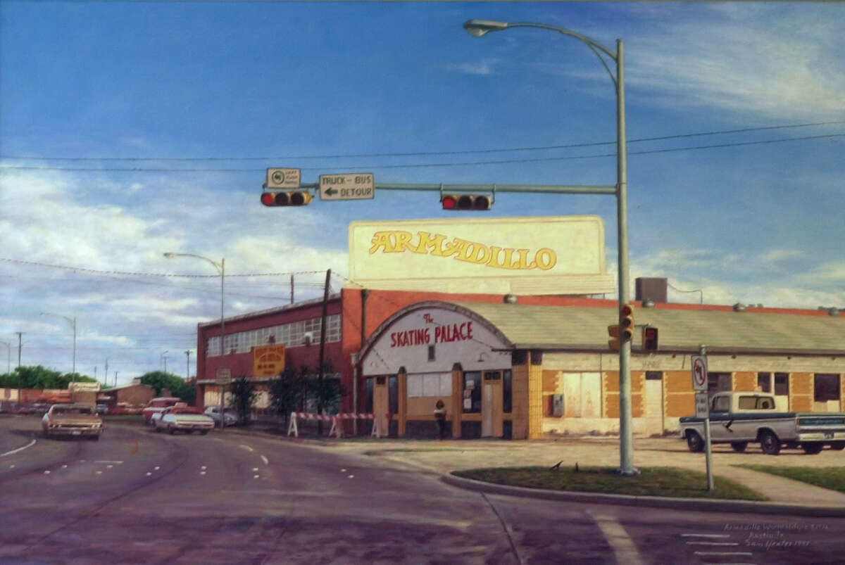 Armadillo World Headquarters & Threadgill's A 1997 painting by artist Sam Yaetes depicts the Armadillo World Headquarters as it appeared in 1976, in Austin, Texas. Musicians as diverse as Willie Nelson, Count Basie, Commander Cody, Jerry Lee Lewis, Ray Charles, Leon Russell and Captain Beefheart played there during the musical hey-day of Austin in the 1970's. Check out items from theArmadillo World Headquarters & Threadgill's memorabilia collection.