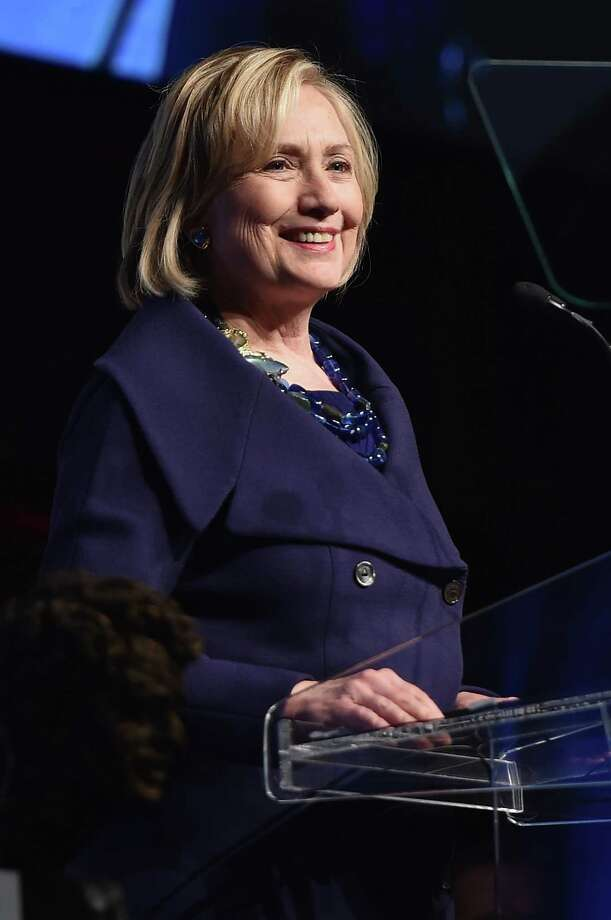 Really, another Clinton running for president? Honoree Hillary Rodham Clinton speaks onstage at the RFK Ripple Of Hope Gala at Hilton Hotel Midtown in December. Photo: Mike Coppola /(Credit Too Long, See Caption) / 2014 Getty Images