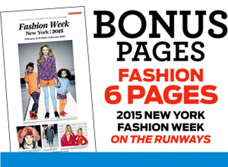 E-edition Bonus Content pages 2015 New York Fashion Week Print promo Photo: Contributed Photo, Bonus Content / Connecticut Post Contributed