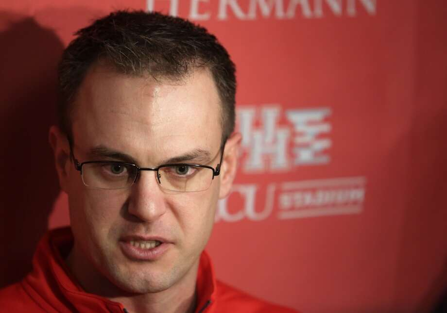 New University of Houston football coach Tom Herman meets with press at the University of Houston, Wednesday January 14, 2015. Coach Herman is fresh off winning the national championship as Ohio State's offensive coordinator. (Billy Smith II / Houston Chronicle) Photo: Billy Smith II, Chronicle
