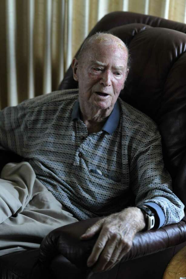 Pearl Harbor survivor William Langston speaks to the Times Union about his experience on December 7, 1941 at his home in Latham, N.Y. Dec. 2, 2011.  (Skip Dickstein/Times Union archive) Photo: Skip Dickstein / 2011