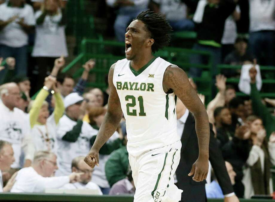 Baylor forward Taurean Prince celebrates the Bears' 74-73 win at the buzzer against Iowa State. Photo: Tony Gutierrez /Associated Press / AP