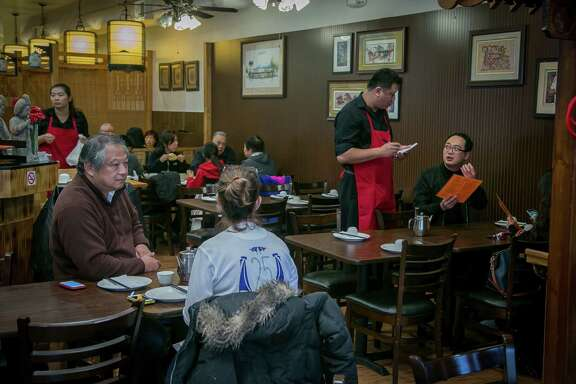 Diners at the Hunan restaurant Wonderful in Millbrae.