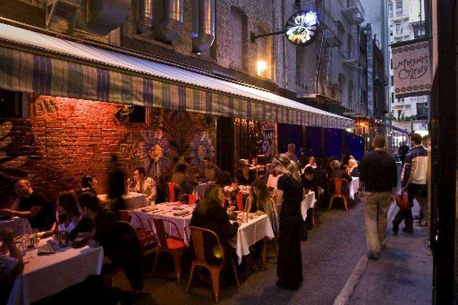 Gitane, located on Claude Lane, has a very clandestine vibe. Photo: Peter Da Silva, The Chronicle 2009