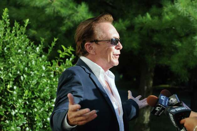 Celebrity David Cassidy talks about the status of his DWI plea at Town Court on Wednesday Sept. 3, 2014 in Schodack, N.Y.  (Michael P. Farrell/Times Union)  FARRELL2014YEAR ORG XMIT: MER2014122615530623 Photo: Michael P. Farrell / 00028445A