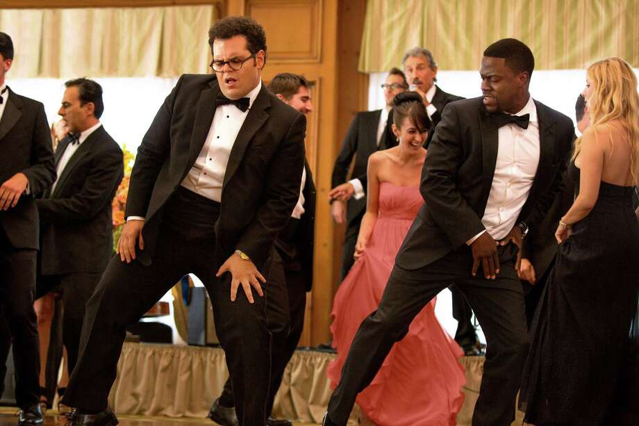 "Doug (Josh Gad) and hired-gun best man Jimmy (Kevin Hart) bust a move in ""The Wedding Ringer."" Photo: Matt Kennedy, THE WEDDING RINGER / © 2014 Screen Gems, Inc.  All Rights Reserved. **ALL IMAGES ARE PROPERTY OF SONY PICTURES ENTERTAINMENT INC. FOR PROMOTIONAL USE"