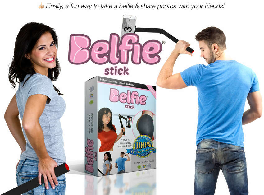 The BelfieStick allows people to take butt selfies, or belfies, with ease.
