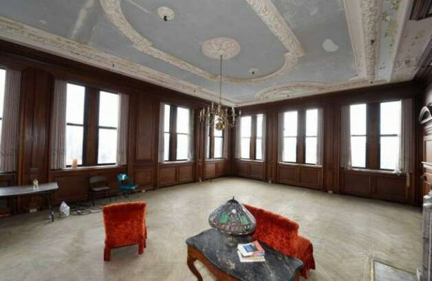 The sixth floor of 37 Prospect St., Amsterdam was where the executive offices were located. Current building owners see it as ideal space for professionals to rent office space and share support services.(Times Union/Skip Dickstein)