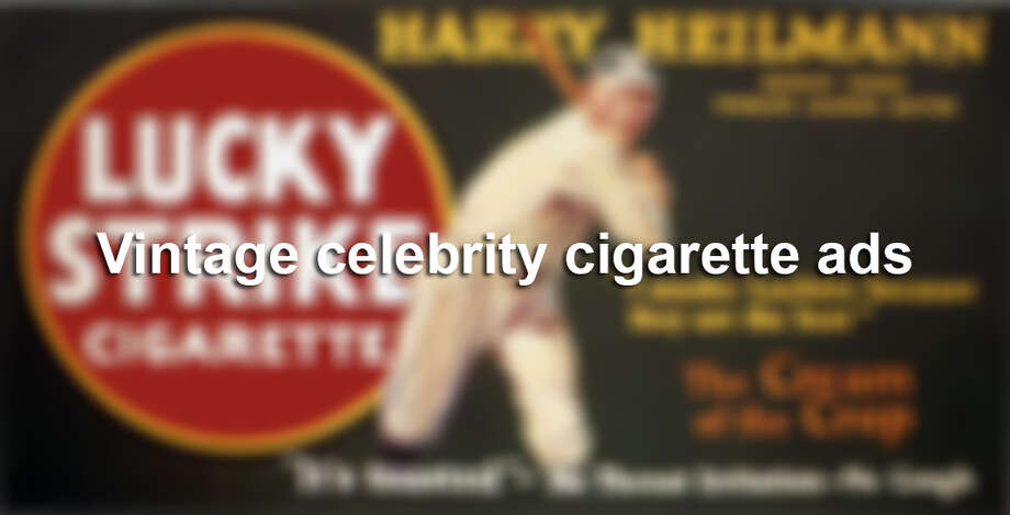In the 1930s, '40s, and '50s, with most people unaware of the dangers, smoking was treated as one of the coolest social things to do. Big tobacco companies targeted and sought out celebrities to endorse their products on TV commercials and magazine advertisements. Celebrities ranged from sports heroes to glamorous movie stars and even cartoon characters. Click through the gallery to view the advertisements. Photo: Transcendental Graphics/Getty Images / 1920 Transcendental Graphics
