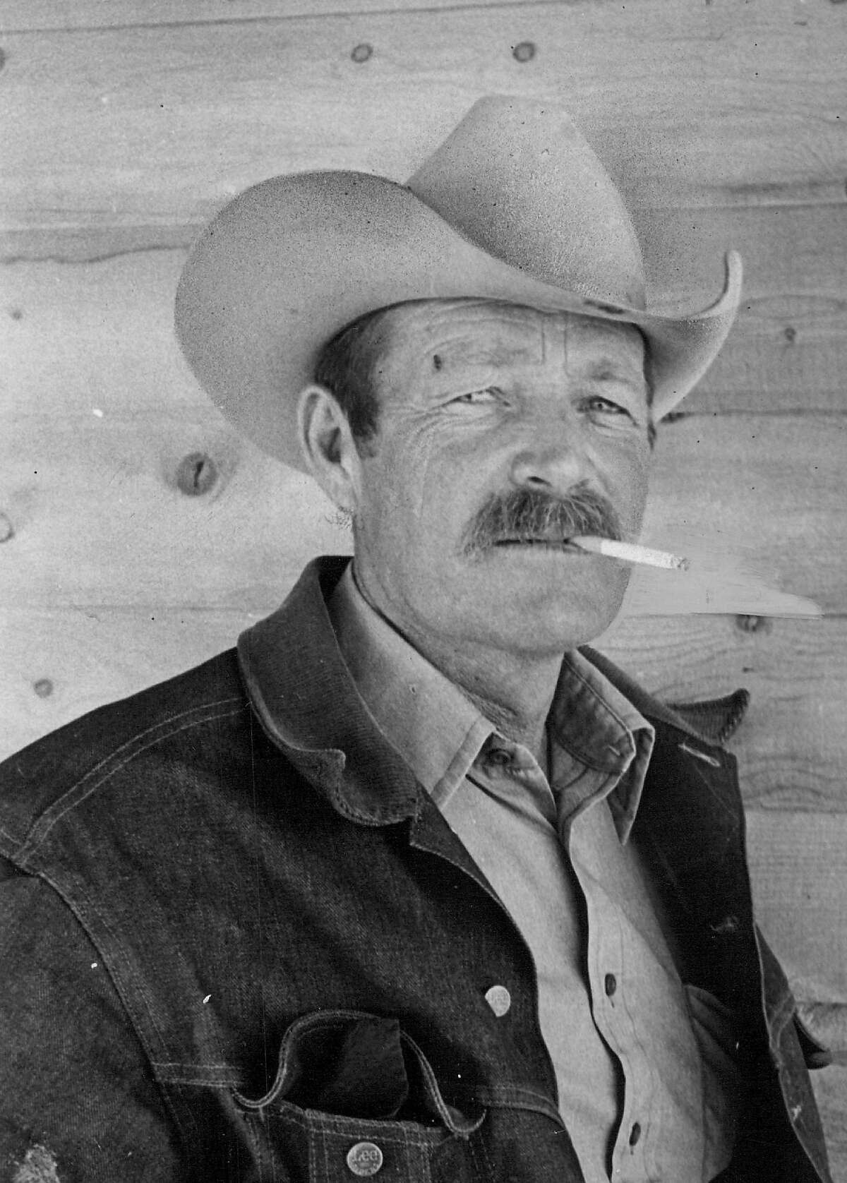 Darrell Winfield, one of the Marlboro Men, strikes a familiar pose in March 1979.