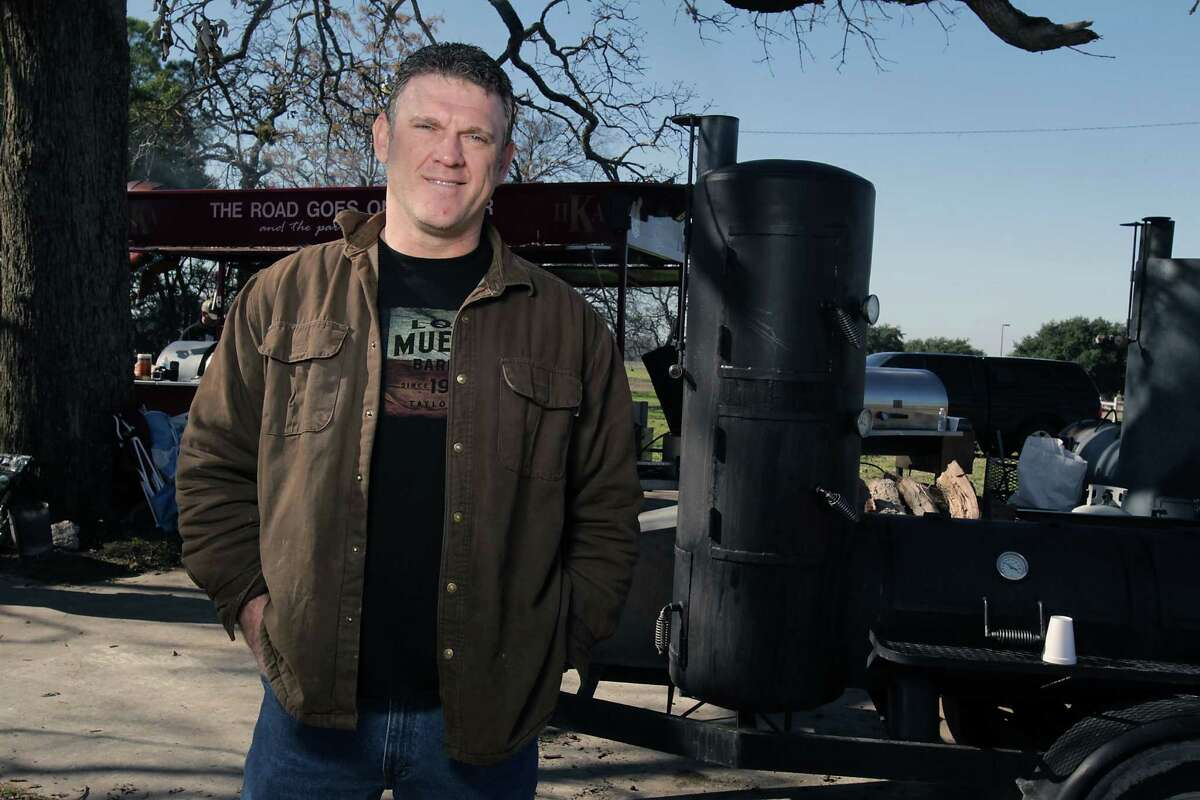 Wayne Mueller of Louie Mueller Barbecue poses for a portrait during Foodways Texas and Texas A&M University's Camp Brisket in College Station.