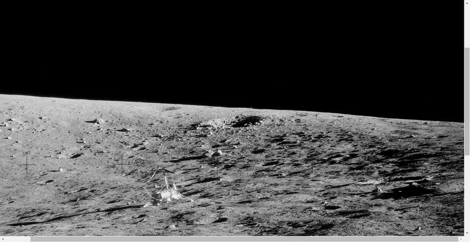 SLIDE 1: The UFO watchers at UFO Sightings Daily speculate that a moving blur in the background of these NASA Apollo 12 images is an alien drone keeping an eye on the space agency crew as it works. See as the spot appears to move in these images. Photo: NASA