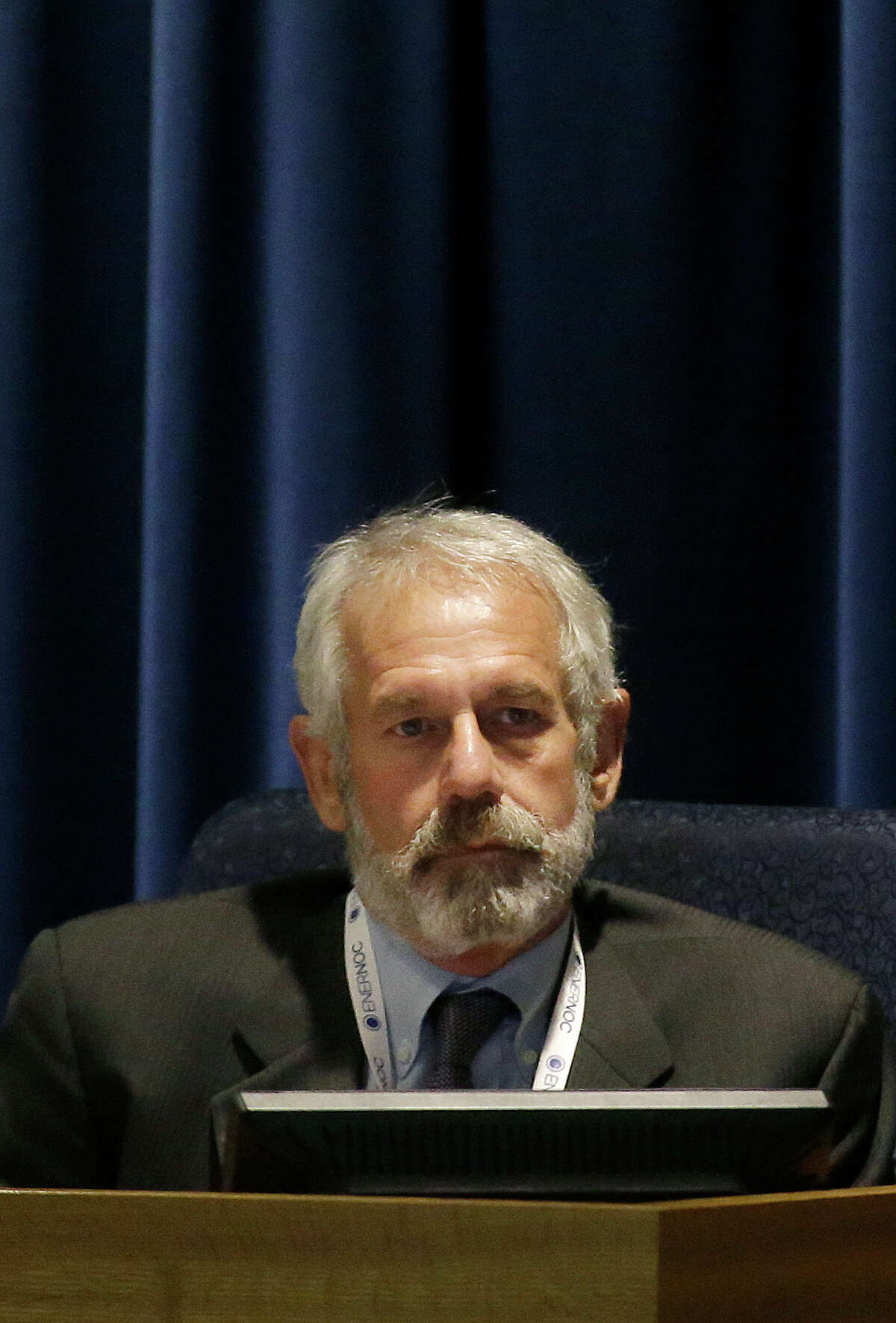 This Dec. 18, 2014 photo shows California Public Utilities Commissioner Michael Picker during a meeting of the five-member commission in San Francisco.