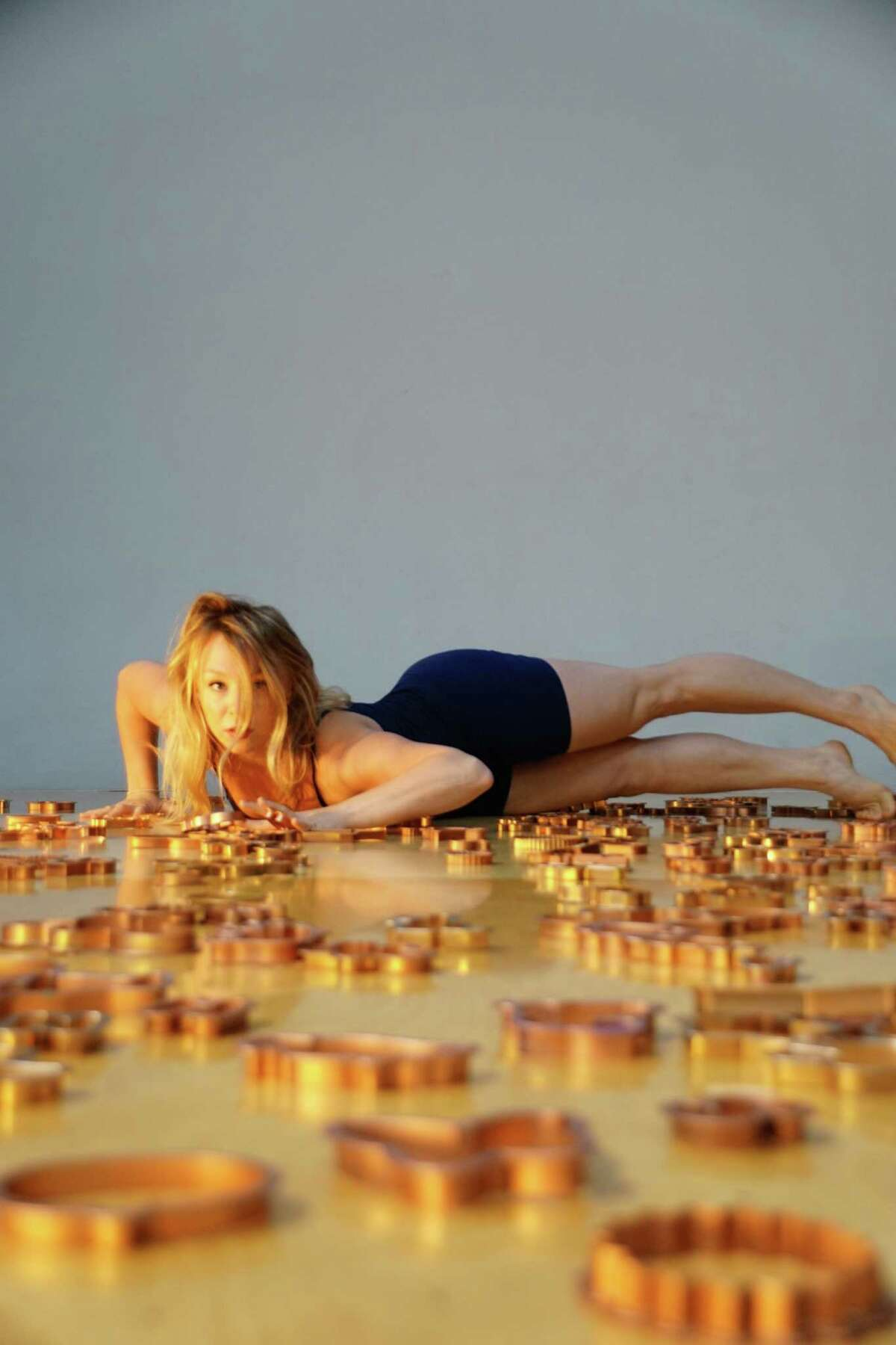 Dancer Emma Salmon performs in