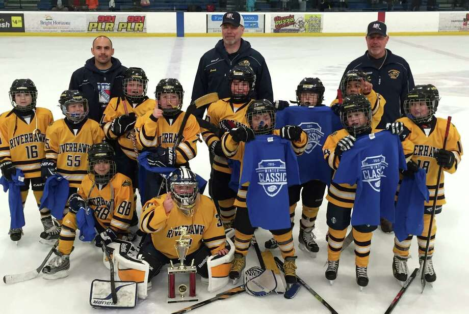 The CT RiverHawks Mite A team who won the Winter Classic Tournament. Photo: Contirbuted, Contributed / New Canaan News