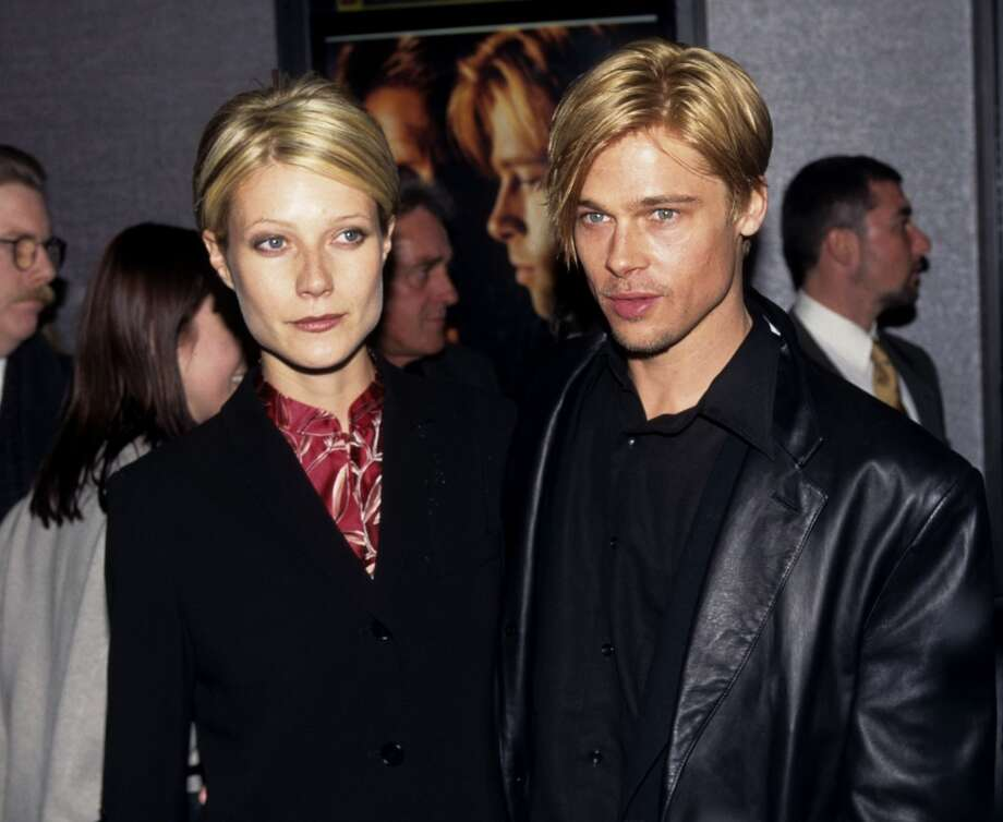"""Gwyneth Paltrow and Brad Pitt during """"The Devil's Own"""" Premiere at Cinema One in New York City, New York, United States. Photo: Kevin.Mazur, WireImage"""