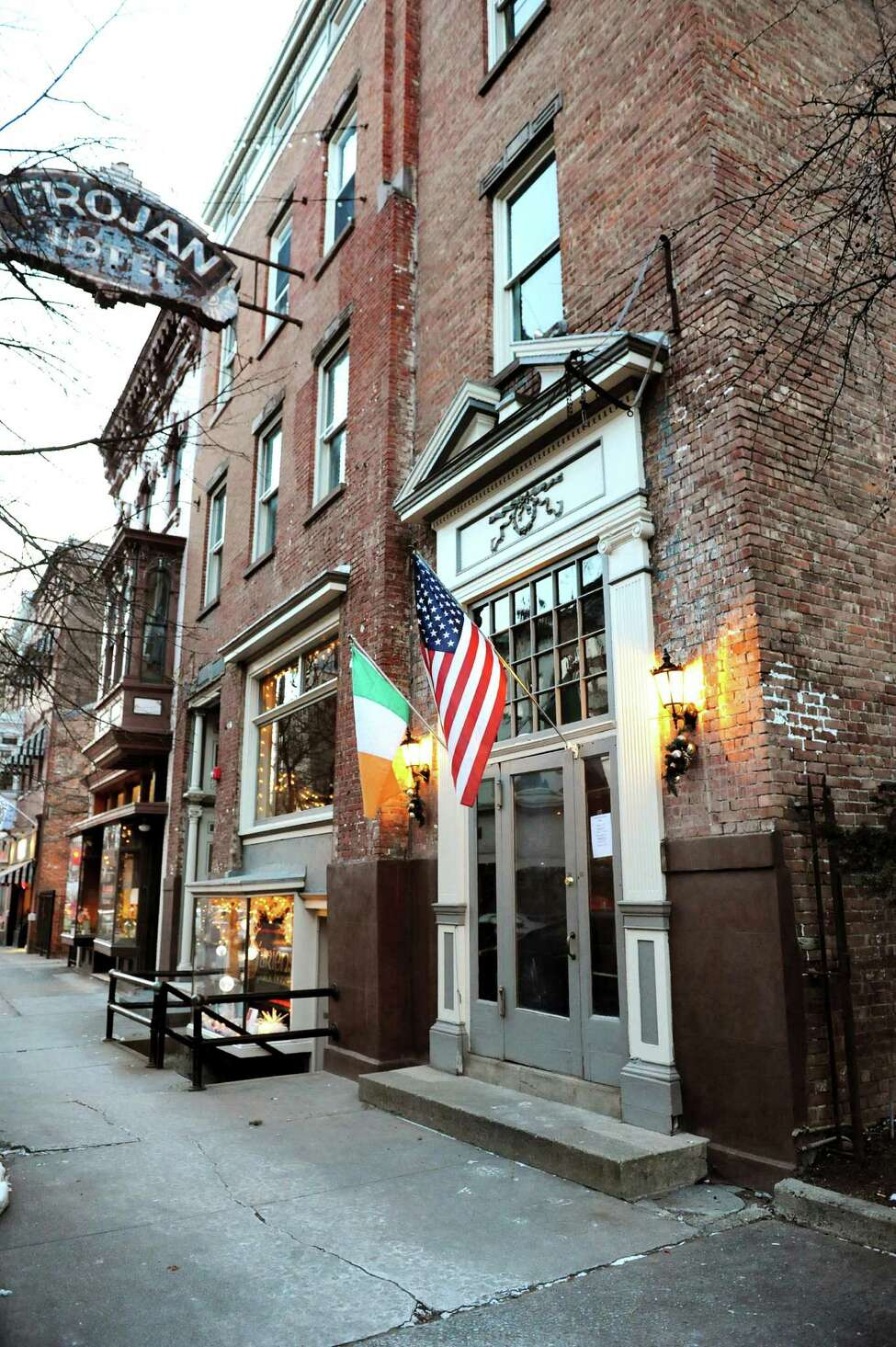 O'Briens Public House, 43 Third St., Troy . They open at noon and will serve an Irish menu all day.