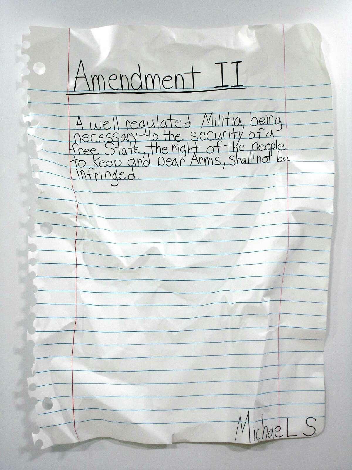 Michael Scoggins, Amendment II, 2008, marker, colored pencil on paper, 67 x 51 inches
