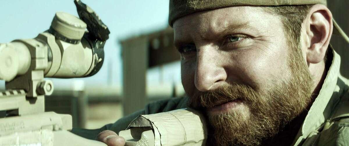 """American Sniper"" Bradley Cooper as famed U.S. sniper Chris Kyle. Budget: $58.8 million U.S. box office: $547 million"