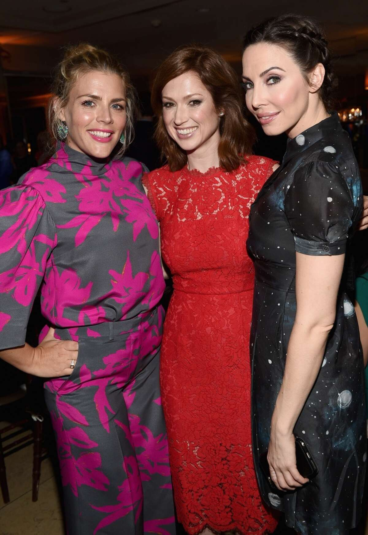 Actresses Busy Philipps, Ellie Kemper and Whitney Cummings attend ELLE's Annual Women in Television Celebration on January 13, 2015 at Sunset Tower in West Hollywood, California. Tomlinson was a finalist on season 9 of NBC's