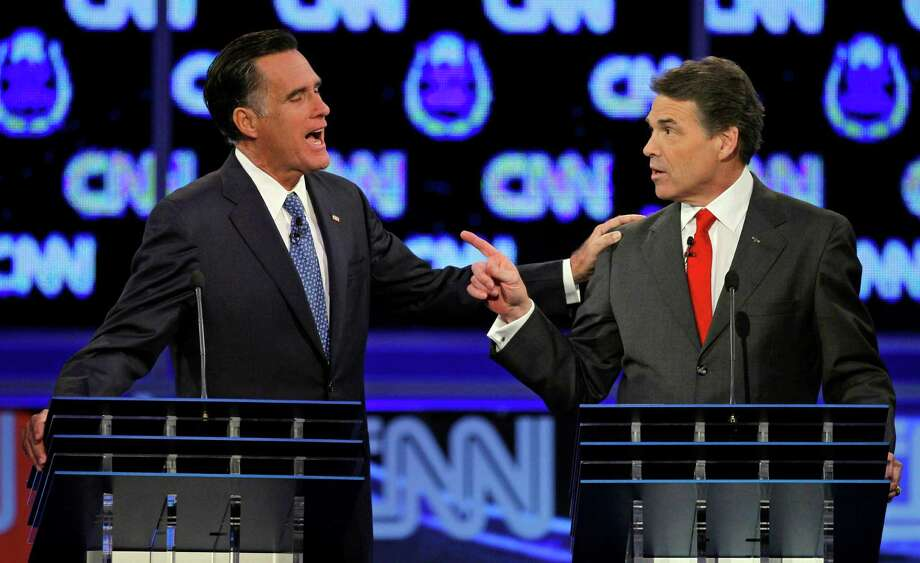 It appears Mitt Romeny will be back for the 2016 presidential sweepstakes. Could he have played Thurston Howell III in Gilligan's Island? In 2011, Romney, a former Massachusetts governor, and Texas Gov. Rick Perry squared off during a debate. Photo: Chris Carlson /ASSOCIATED PRESS / AP2011