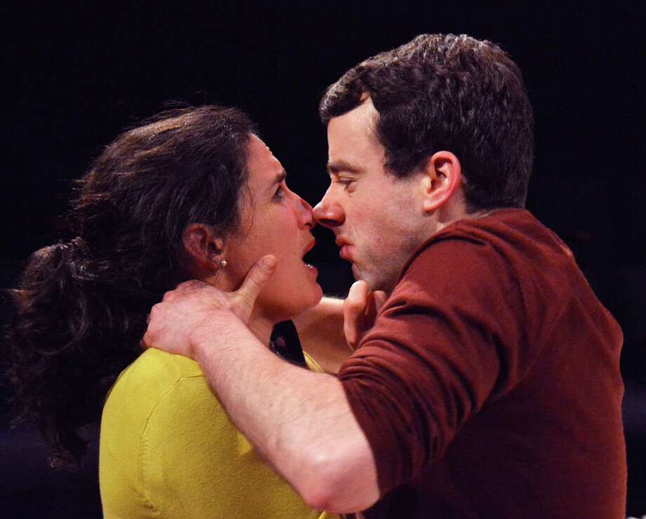 Mary (Maria Leigh) and Crick (Brian Martin), together since second grade, get in a fight. Photo: Jay Yamada / ONLINE_YES