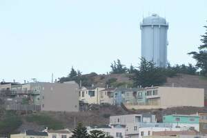 La Grande Tank in McLaren Park is visible from Interstate 280 and a quiet but ubiquitous presence above San Francisco's Excelsior district.