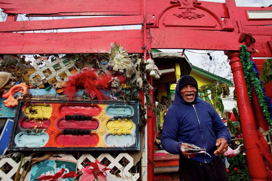 The home of the late Cleveland Turner, an artist known by many in the Third Ward and beyond as the Flower Man, will be torn down on Feb. 7. Photo: Mayra Beltran, Staff / Houston Chronicle
