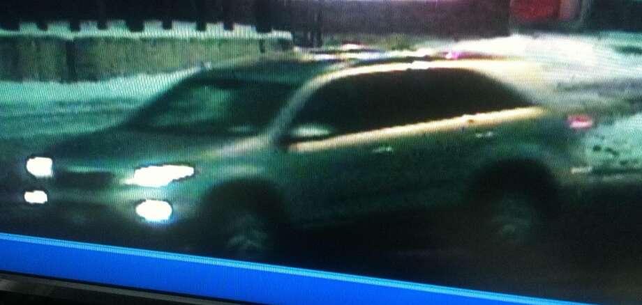 This gold Lexus was captured fleeing downtown Schenectady on surveillance camera.