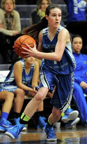 Albany's Bridget Whelan controls the ball during their basketball against CCHS on Thursday, Jan. 15, 2015, at Catholic Central High School in Troy, N.Y. (Cindy Schultz / Times Union) Photo: Cindy Schultz / 00030165A