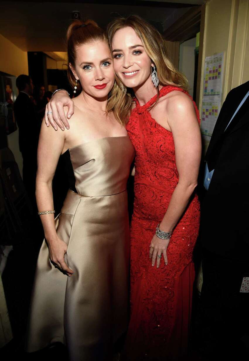 LOS ANGELES, CA - JANUARY 15: (EXCLUSIVE COVERAGE) Amy Adams and Emily Blunt attend the 20th annual Critics' Choice Movie Awards at the Hollywood Palladium on January 15, 2015 in Los Angeles, California.