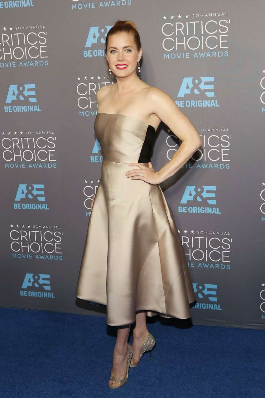 LOS ANGELES, CA - JANUARY 15: Actress Amy Adams attends The 20th Annual Critics' Choice Movie Awards at Hollywood Palladium on January 15, 2015 in Los Angeles, California.