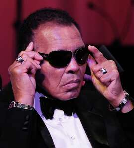 Former heavyweight champion Muhammad Ali, seen in 2012, was back in a Louisville hospital for follow-up care related to a severe urinary tract infection.