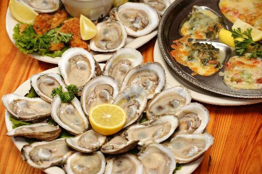 Stingaree's Oysters Jubilee, a multi-course Gulf oyster feast. Jake Daniels/@JakeD_in_SETX