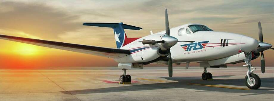 Photos show a plane from the fleet of Beechcraft King Air 200s used by Texas Air Shuttle. The Texas-based company will offer all-you-can-fly commutes between San Antonio, Austin, Houston and Dallas-Fort Worth for members only. Membership fees range from $899 - $4,900 per month. Photo: Courtesy/Texas Air Shuttle