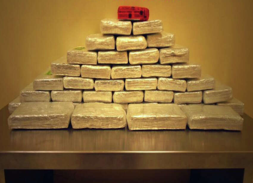 Drug: Cocaine Amount: 40 bundles containing 99 pounds Estimated value: $762,000 Date: Jan. 11, 2015 Location: Laredo Details: Agents allegedly found the bundles in a 2013 Mazda 5 driven by a 50-year-old Mexican woman from Monterey.