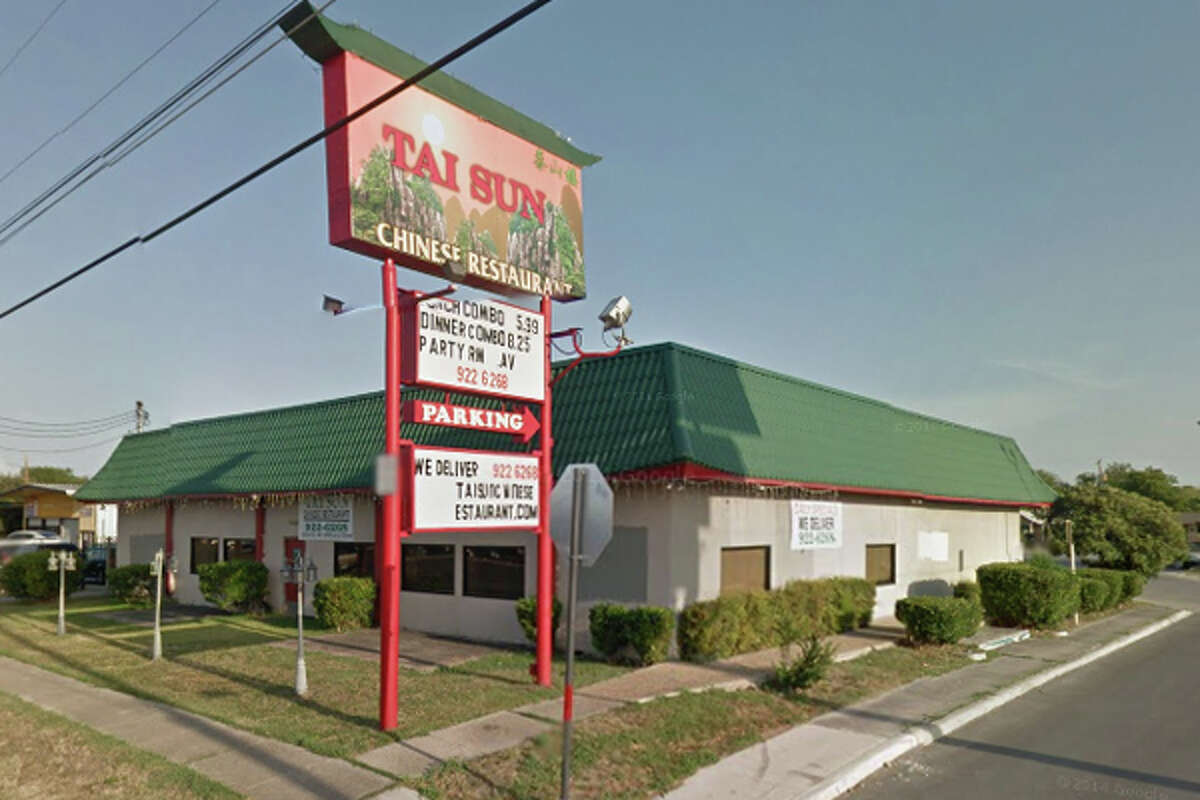 Tai Sun Chinese Restaurant: 1234 S.W. Military Drive, San Antonio, Texas 78221Date: 01/04/2016 Demerits: 14Highlights: Employees' personal food items found near food areas, plumbing repairs needed, ensure chemical sanitizer is within required range, Certified Food Manager (CFM) should be present at establishment at all times